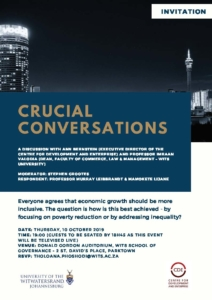 Crucial conversations event with Imraan Valodia