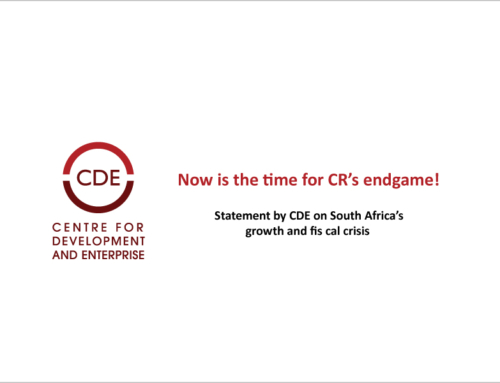 Now is the time for CR's endgame! Statement by CDE on South Africa's growth and fiscal crisis