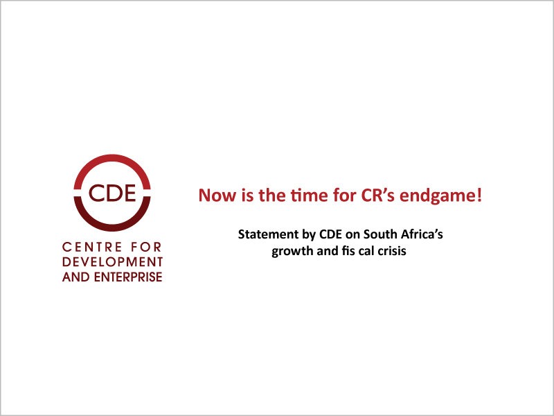 CDE statement on fiscal crisis