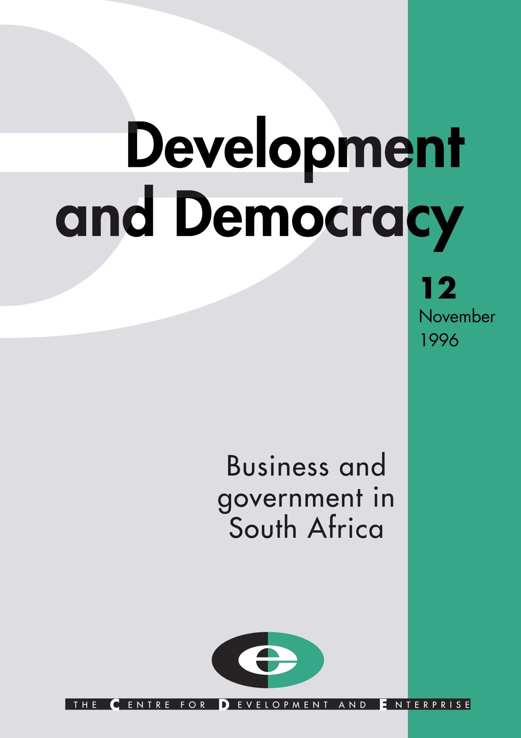 CDE development and democracy