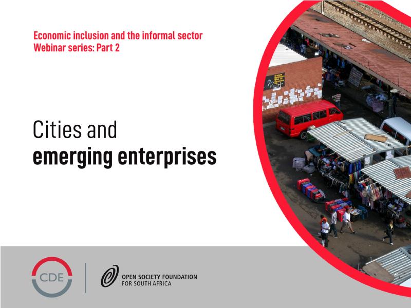 CDE webinar on the informal sector