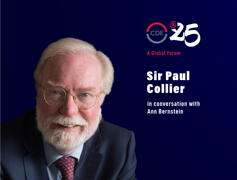 Sir Paul Collier in conversation with Ann Bernstein
