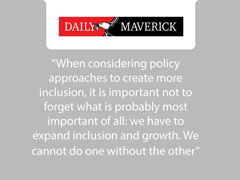 Ann Bernstein's op-ed in the Daily Maverick