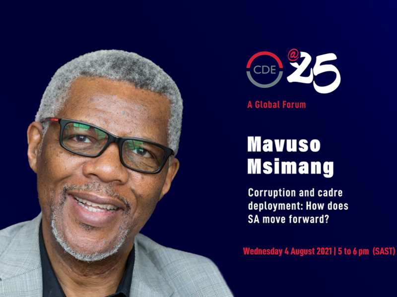 Mavuso Msimang on Corruption and cadre deployment: How does South Africa move forward?