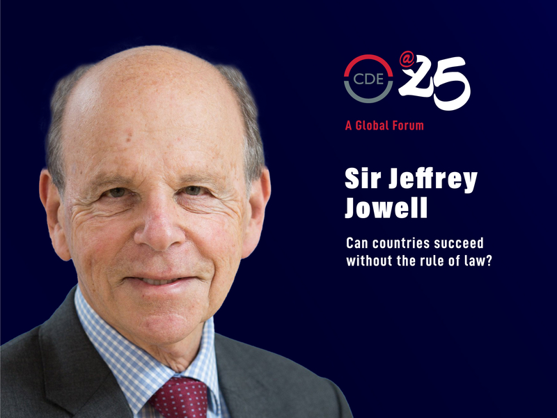 Sir Jeffrey Jowell event at CDE discussing if countries can succeed without the rule of law