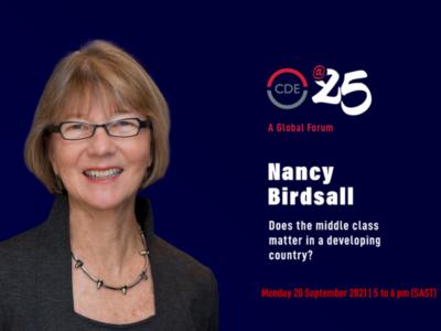 Nancy Birdsall CDE event